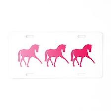 Dressage Horse Trio Pink Om Aluminum License Plate