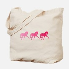 Dressage Horse Trio Pink Ombre Tote Bag
