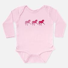 Dressage Horse Trio Pi Long Sleeve Infant Bodysuit