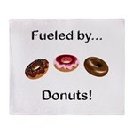 Fueled by Donuts Throw Blanket