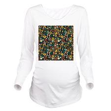Cute Ornate Retro Fl Long Sleeve Maternity T-Shirt