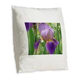 Pink iris Burlap Pillows