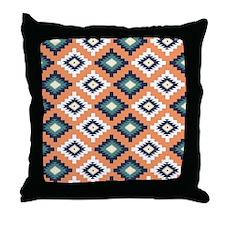 Colorful Tribal Aztec Geometric Patte Throw Pillow