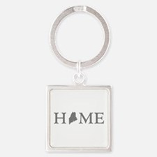 Maine Home Square Keychain