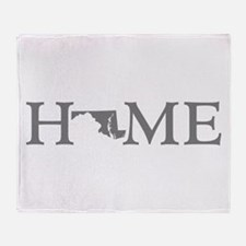 Maryland Home Throw Blanket