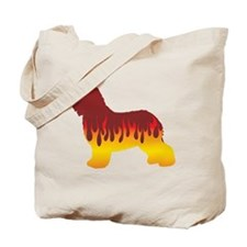 Schapendoes Flames Tote Bag