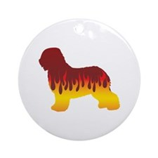 Schapendoes Flames Ornament (Round)