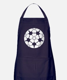 Five equal parts cherry blossom Apron (dark)