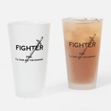 Fightterfinblack.png Drinking Glass