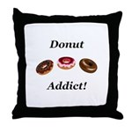 Donut Addict Throw Pillow