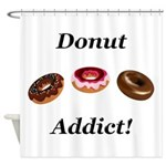 Donut Addict Shower Curtain