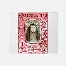 1936 Peru Saint Rose of Lima Postage Stamp Throw B