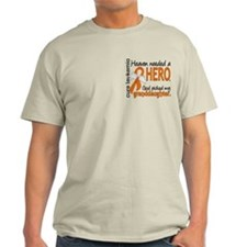 Leukemia Heaven Needed Hero 1.1 T-Shirt
