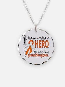 Leukemia Heaven Needed Hero Necklace