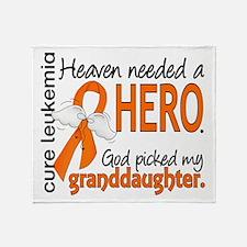 Leukemia Heaven Needed Hero 1.1 Throw Blanket