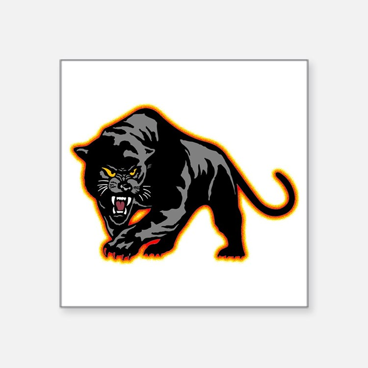 "Cute Panther Square Sticker 3"" x 3"""