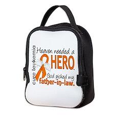 Leukemia Heaven Needed Hero 1.1 Neoprene Lunch Bag