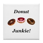 Donut Junkie Tile Coaster