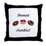 Donut Junkie Throw Pillow