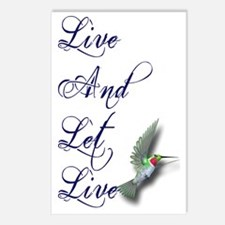 Live and Let Live Postcards (Package of 8)