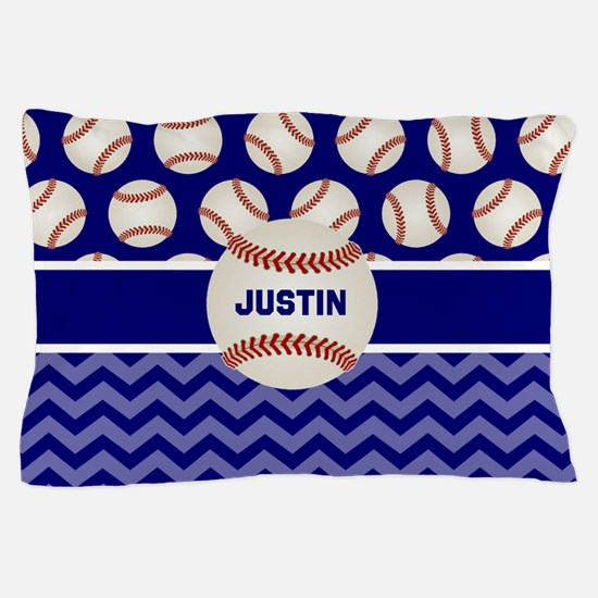Baseball Blue Personalized Pillow Case