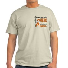 Leukemia Heaven Needed Hero T-Shirt