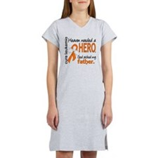 Leukemia Heaven Needed Hero Women's Nightshirt
