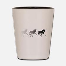 Dressage Horse Sidepass Ombre Shot Glass