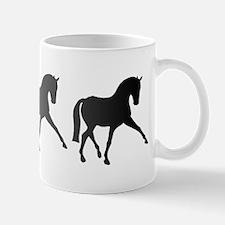 Dressage Horse Sidepass Ombre Mug
