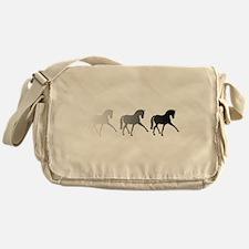 Dressage Horse Sidepass Ombre Messenger Bag