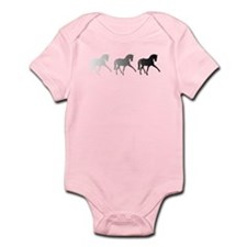 Dressage Horse Sidepass Ombre Infant Bodysuit