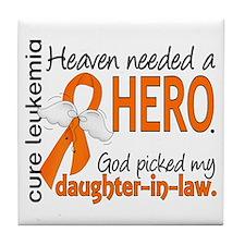 Leukemia Heaven Needed Hero 1.1 Tile Coaster