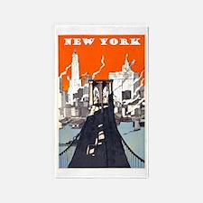 Vintage New York 3'x5' Area Rug