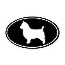 Australian Terrier Oval Car Magnet