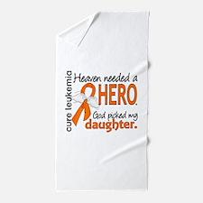 Leukemia Heaven Needed Hero 1.1 Beach Towel