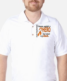 Leukemia Heaven Needed Hero Golf Shirt