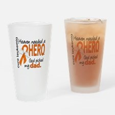 Leukemia Heaven Needed Hero Drinking Glass
