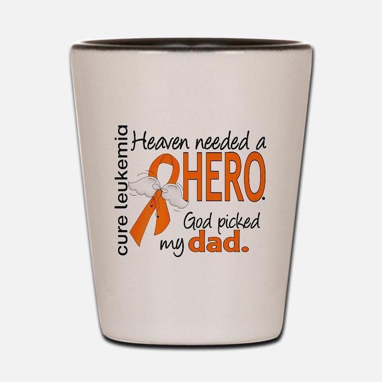 Leukemia Heaven Needed Hero Shot Glass