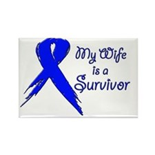 My wife is a survivor Rectangle Magnet