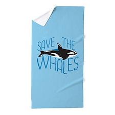 Save the Whales Beach Towel