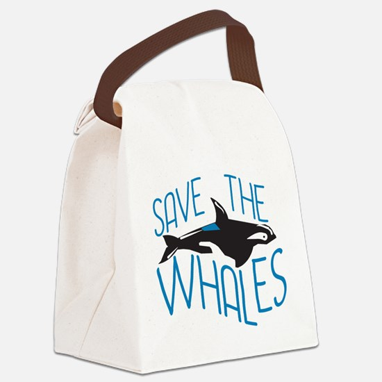 Save the Whales Canvas Lunch Bag