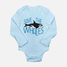 Save the Whales Long Sleeve Infant Bodysuit