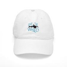 Save the Whales Baseball Baseball Cap