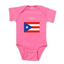 Juan Custom Puerto Rican Flag 23 Baby Bodysuit