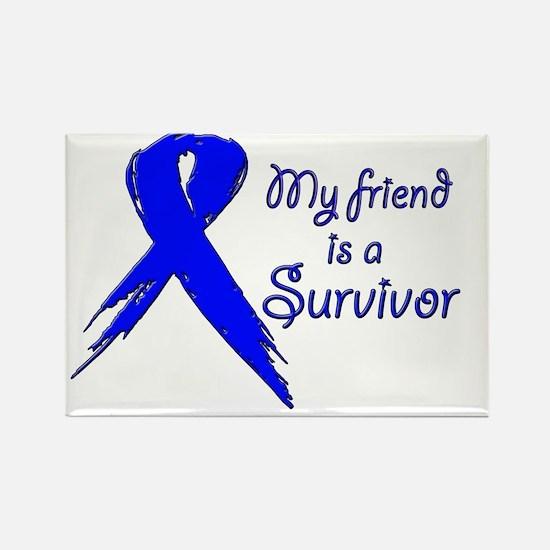 My friend is a survivor 2 Rectangle Magnet