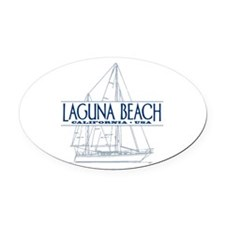 Laguna Beach - Oval Car Magnet