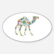 Colorful Retro Flowers Camel Decal
