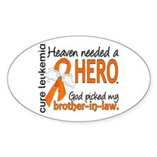 Leukemia Heaven Needed Hero Decal