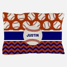 Baseball Red Blue Personalized Pillow Case