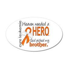 Leukemia Heaven Needed Hero Wall Decal